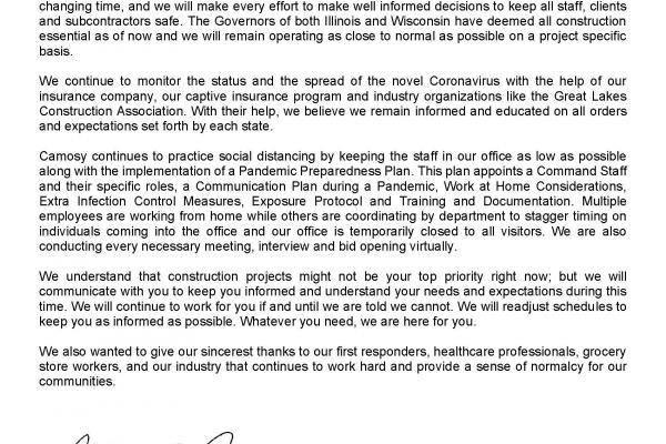 Covid19 Letter April 2020